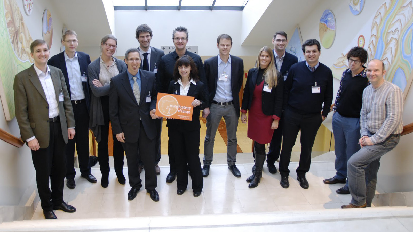 Members of the YAE Board at the constitutive meeting 2012 in Brussels